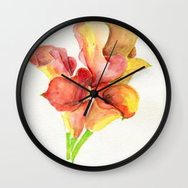 Up In Flames Wall Clock