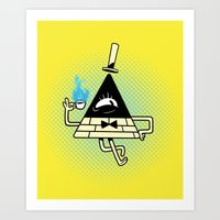 bill Art Prints featuring Bill by zaMp