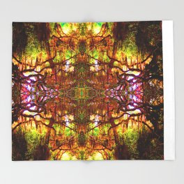 Tree of Life Abstract Throw Blanket