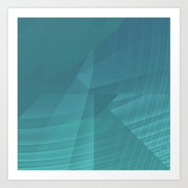 Mystical Blue Art Print