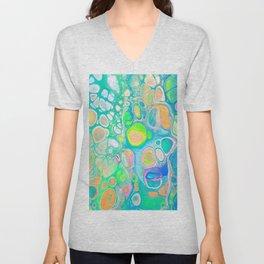 Blue Green Cells Unisex V-Neck