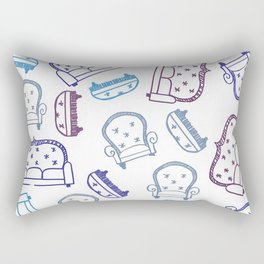 Falling Couches Rectangular Pillow