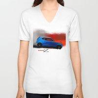 honda V-neck T-shirts featuring Honda Z by Vadim Artemyev