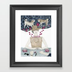 Lost and bewildered Framed Art Print
