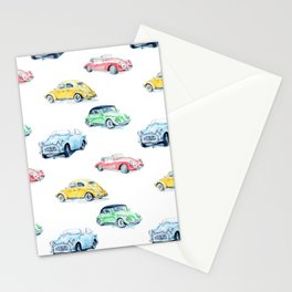 Retro cars pattern Stationery Cards