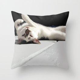 Upside Down Meow Throw Pillow