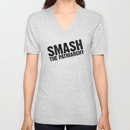 Smash the Patriarchy Unisex V-Neck