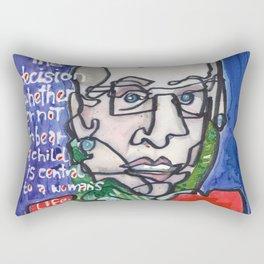 Justice Ruth Bader Ginsburg Rectangular Pillow