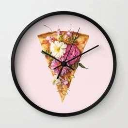 FLORAL PIZZA Wall Clock