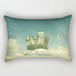 NEVER STOP EXPLORING 1 (THE CLOUDS) Rectangular Pillow