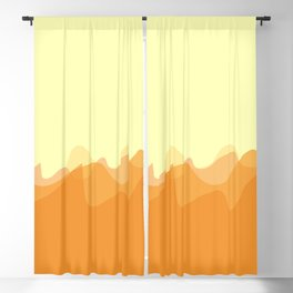 Wave pattern nature abstraction (orange) Blackout Curtain