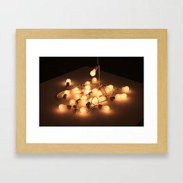 String Lights Framed Art Print