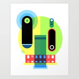 Skull glitch Art Print