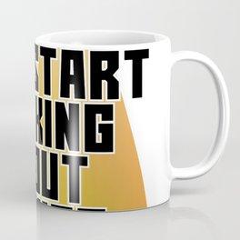 Warning May Start Talking About Drones Coffee Mug