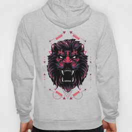 The red Lion sacred geometry Hoody