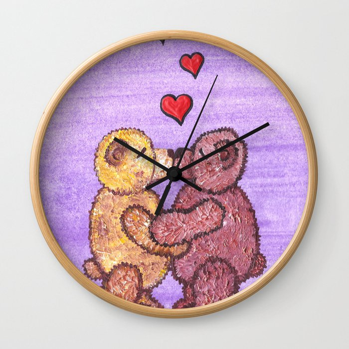 Bears in love Wall Clock