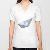 boat V-neck T-shirts featuring 'Boat' by Mr & Mrs Quirynen