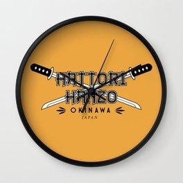 Hattori Hanzo Steel Wall Clock