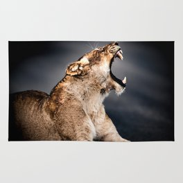 Growling Lioness Rug