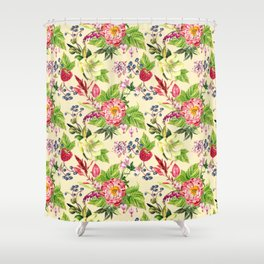 Fowers and Berries Spring Shower Curtain