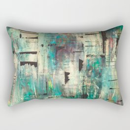 """SINGING IN THE RAIN"" Original Painting by Cyd Rust Rectangular Pillow"