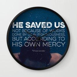 Titus 3:5 Wall Clock