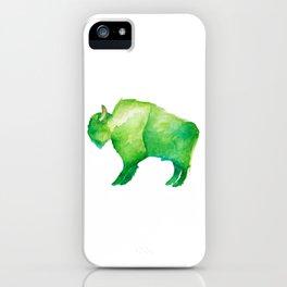 Green Bison iPhone Case