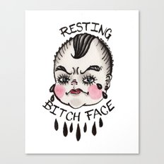 Resting B1&ch Face Cry Baby Canvas Print