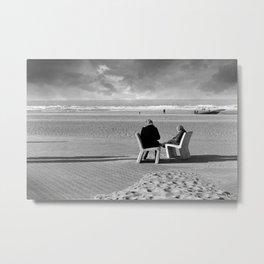 Wait and Sea Metal Print