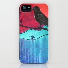 """Manifest"" Original painting by Carly Mojica iPhone Case"