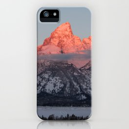 Glowing Pink Sunrise in Grand Teton National Park, Wyoming iPhone Case