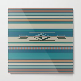 American Native Pattern No. 280 Metal Print