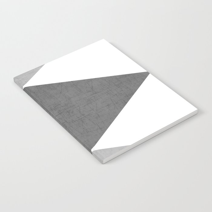 black and white triangles Notebook