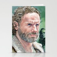 rick grimes Stationery Cards featuring Rick Grimes by Mark Satchwill Art