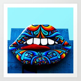 Rainbow Kiss Art Print