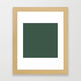 Christmas Evergreen Pine Garland Framed Art Print