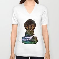 buddah V-neck T-shirts featuring Buddah - San Francisco Japanese Tea Garden by kreatox