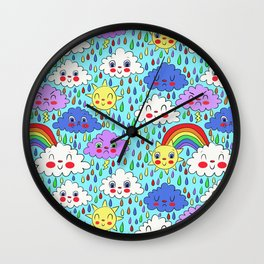 Scattered Showers Wall Clock