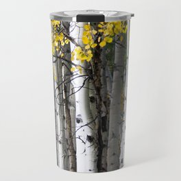 Yellow, Black, and White // Aspen Trees in Crested Butte Travel Mug