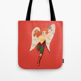 Hawkgirl Superheroine  Tote Bag