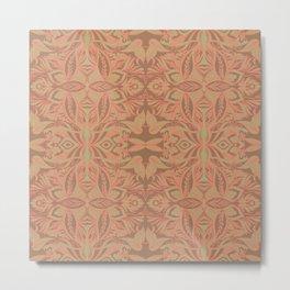 Trellis (Red) Metal Print