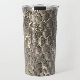 Antique Honeycomb Illustration Travel Mug