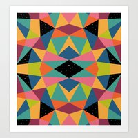 kaleidoscope Art Prints featuring Kaleidoscope by Andy Westface