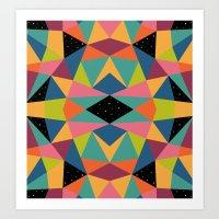 kaleidoscope Art Prints featuring Kaleidoscope by Andy Westface