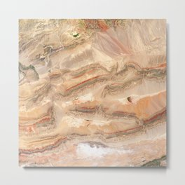 Faults in Xinjiang | Spacer Collection Metal Print