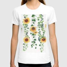 Eucalyptus and Sunflowers Garland  T-shirt