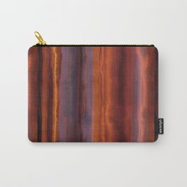 Wildfire Watercolor Stripe Carry-All Pouch