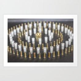 Brass Circle Art Print