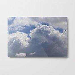 Cotton Wool Clouds Metal Print