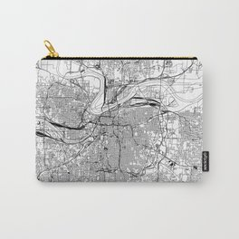 Kansas City White Map Carry-All Pouch